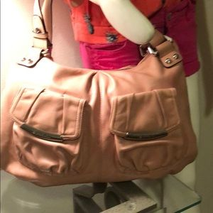Like new B Makowsky pink leather large shoulderbag